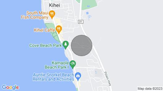 Private Modern 1BR/1BA Tropical Kihei Maui Cottage by the Beach Map