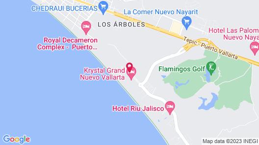 Villa Del Palmar Flamingos Beach Resort and Spa Map