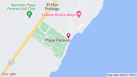 Artisan Playa Paraíso Map