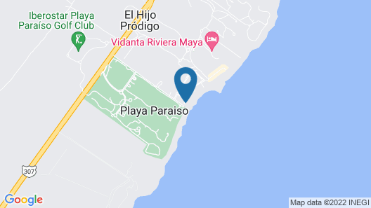 Senses Riviera Maya by Artisan -Gourmet  All Inclusive - Adults Only Map
