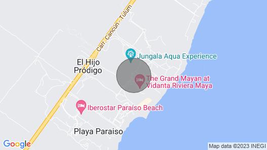 AAA 4 Diamond Resort in Riviera Maya on the Beach Map