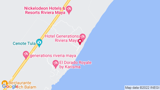 Generations Riviera Maya, Gourmet All Inclusive by Karisma Map