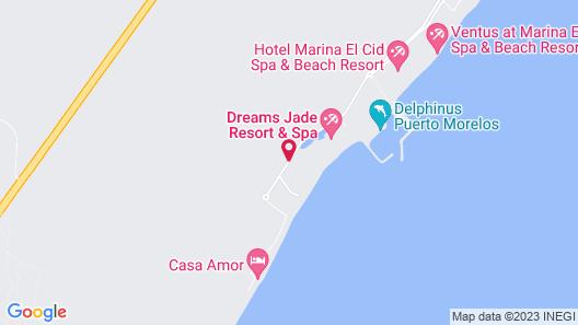 Grand Residences Riviera Cancun Map