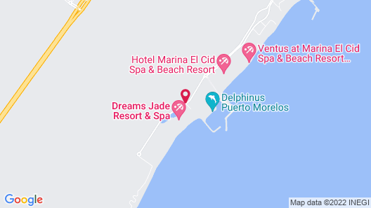 Now Jade Riviera Cancun Resort & Spa Map