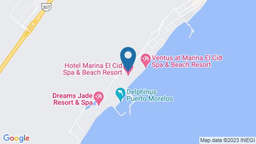Hotel Marina El Cid Spa & Beach Resort All Inclusive Map