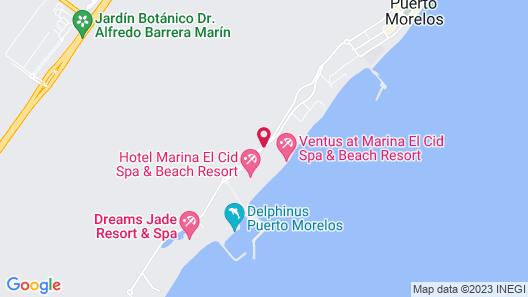 Ventus at Marina El Cid Spa & Beach Resort - All Inclusive Map