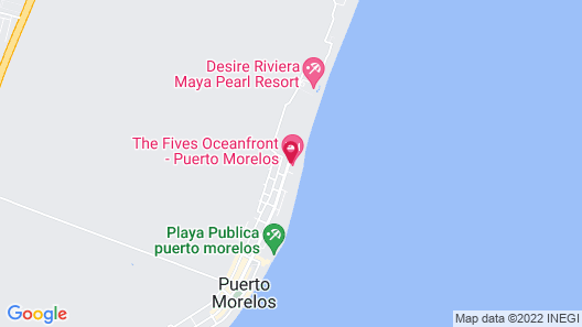The Fives Oceanfront - Puerto Morelos Map