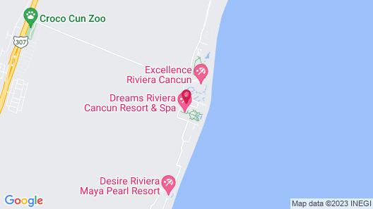 Dreams Riviera Cancun Resort & Spa Map