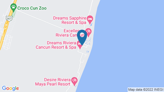 Dreams Riviera Cancun Resort & Spa Map