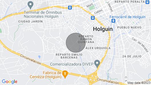 Casa Mirador May Luz - Nice View In Holguin Map