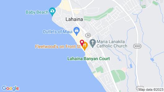 Lahaina Inn Map
