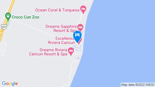 Excellence Riviera Cancun - Adults Only - All Inclusive Map