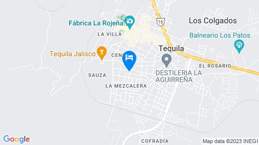 Hotel Quinta Tequillan Map