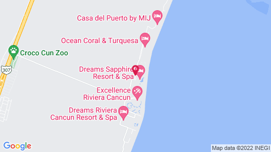 Now Sapphire Riviera Cancun Map