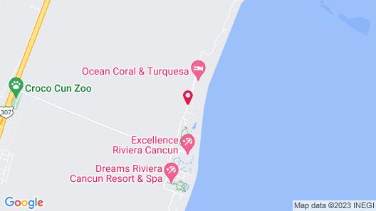 Ocean Coral & Turquesa - All Inclusive Map