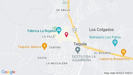 Hotel La Rienda Misión Tequillan Map