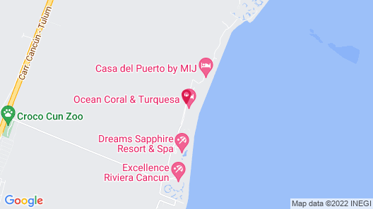 Ocean Coral & Turquesa El Beso Adults Only - All Inclusive Map