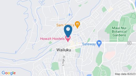 Central Maui Hostel Map