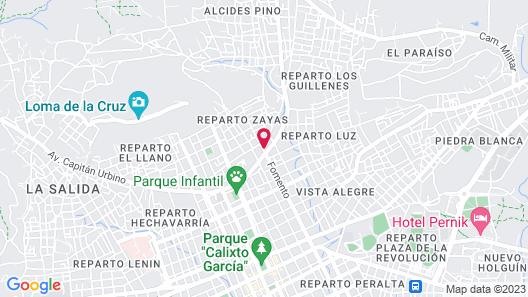 Villa Cristal Holguin Map
