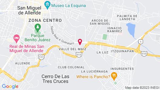 Casa Primavera Hotel Boutique & Spa Map