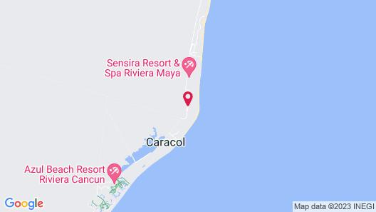 Azul Beach Resort Riviera Maya, Gourmet All Inclusive by Karisma Map