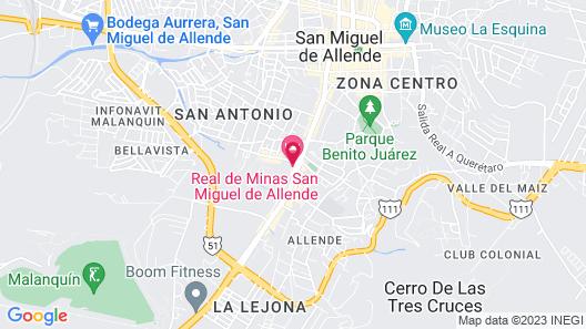 Real de Minas San Miguel de Allende Map