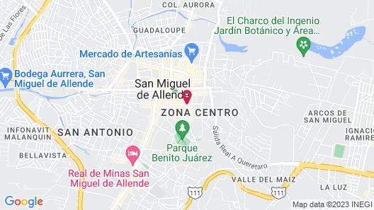 Casa de Sierra Nevada, A Belmond Hotel, San Miguel de Allende Map