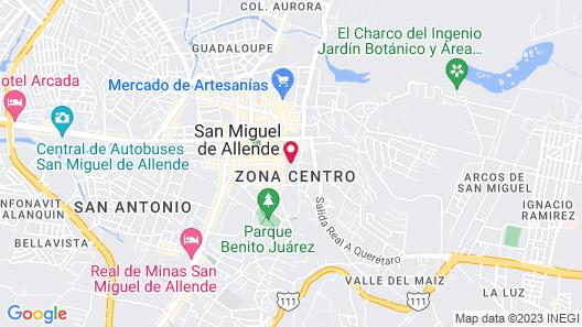 Hacienda de las Flores Map