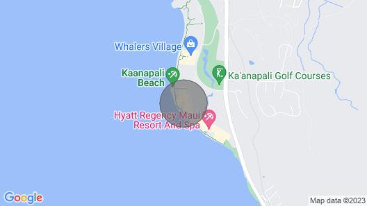 Maui Resort Rentals: Marriott's Maui Ocean Club 3 Bedroom Oceanfront Villa Map