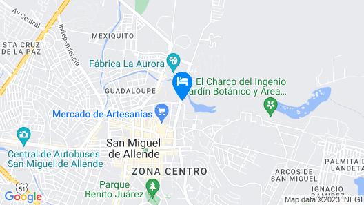 Live Aqua San Miguel de Allende Urban Resort Map