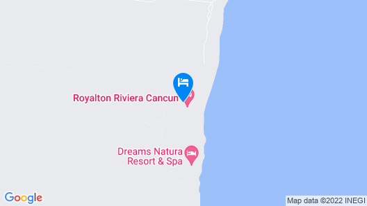 Hideaway at Royalton Riviera Cancun Adults Only - All Inclusive Map