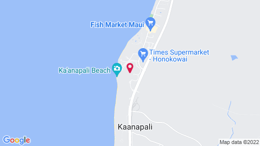 Honua Kai - Hokulani 841 - Ocean View! 2b/2b 2 Bedroom Condo Map