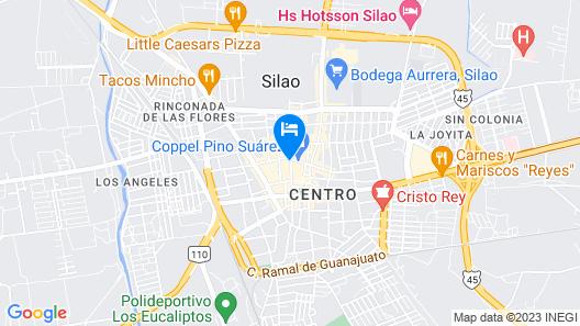 OYO Hotel Colonial Map