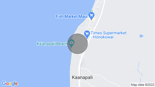 Maui Resort Rentals: Honua Kai Hokulani 837 - Stunning 8th Floor Ocean View Studio Map