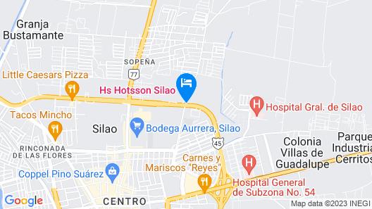 HS HOTSSON Hotel Silao Map