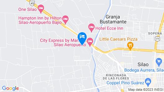City Suites Silao Aeropuerto Map