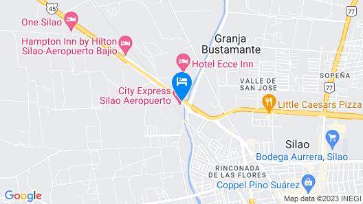 City Express Silao Aeropuerto Map