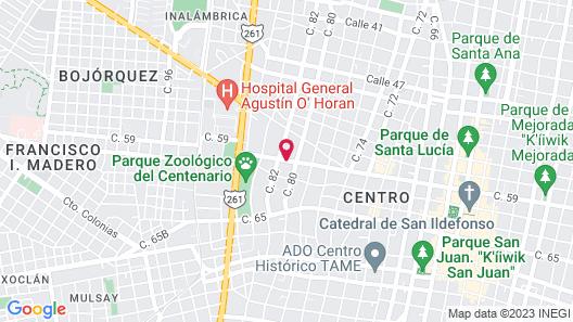 Casa De Las Columnas Map