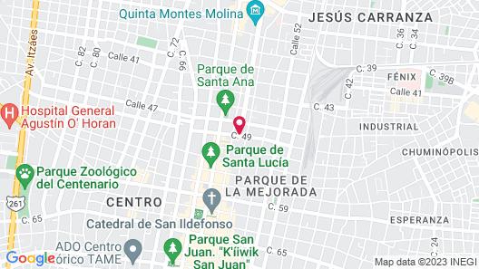 Hotel Boutique Casa San Angel Map