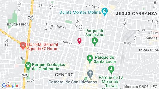 Casa Del Maya Bed & Breakfast Map