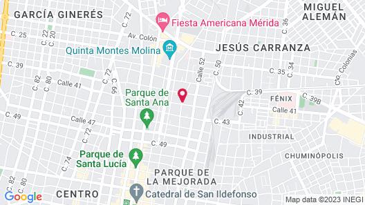 HOTEL BOUTIQUE CASA FLOR DE MAYO Map