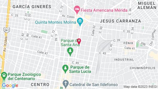 Rosas & Xocolate Boutique Hotel Map