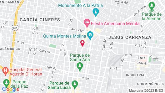 Hotel Casa Azul Map
