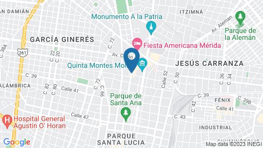 City Express Plus Mérida Map