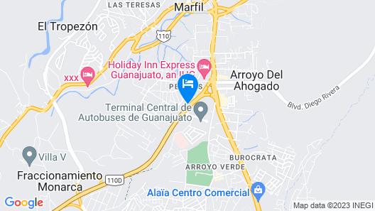Quinta las Alondras Hotel and Spa Map