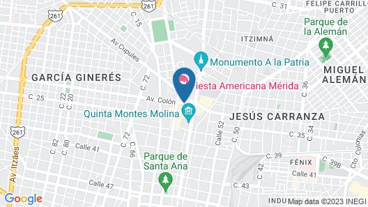 Holiday Inn Merida Mexico Map