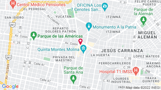 Fiesta Americana - Merida Map