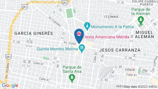 Fiesta Americana - Merida Map