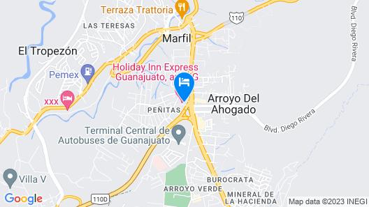 Holiday Inn Express Guanajuato Map