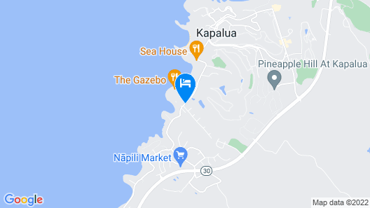 Napili Shores Maui by Outrigger Map